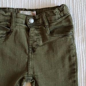 Zara green skinny jeans SZ3-4YEARS
